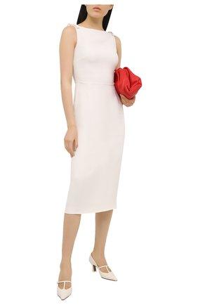 Женские кожаные туфли segin NEOUS белого цвета, арт. 00253A10   Фото 2 (Материал внутренний: Натуральная кожа; Каблук высота: Средний; Каблук тип: Устойчивый; Подошва: Плоская)
