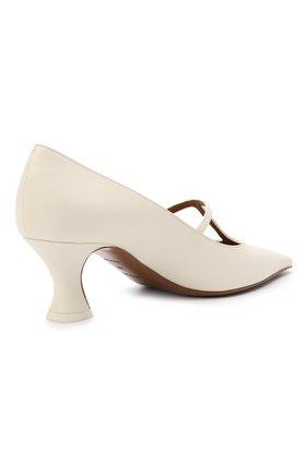 Женские кожаные туфли segin NEOUS белого цвета, арт. 00253A10   Фото 4 (Материал внутренний: Натуральная кожа; Каблук высота: Средний; Каблук тип: Устойчивый; Подошва: Плоская)
