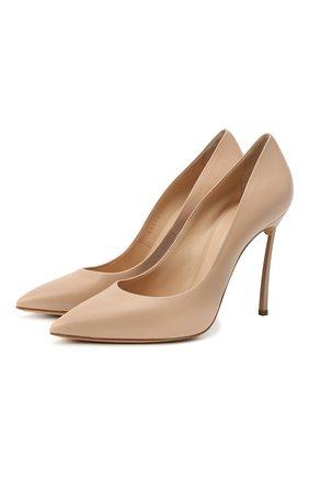 Женские кожаные туфли CASADEI бежевого цвета, арт. 1F161D100HHMIN02801 | Фото 1