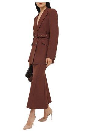 Женские кожаные туфли CASADEI бежевого цвета, арт. 1F161D100HHMIN02801 | Фото 2