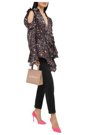 Женские кожаные туфли CASADEI розового цвета, арт. 1F161D100TFLU004201 | Фото 2