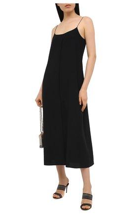 Женские комбинированные мюли CASADEI черного цвета, арт. 1M700S0801C12419000 | Фото 2