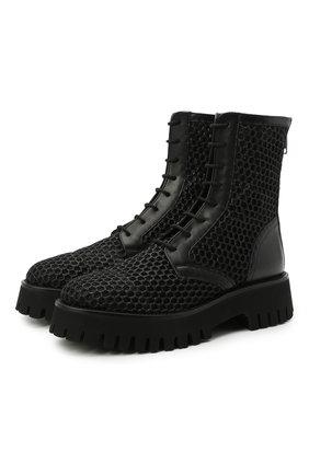 Женские комбинированные ботинки CASADEI черного цвета, арт. 1R253S0401C12479000 | Фото 1
