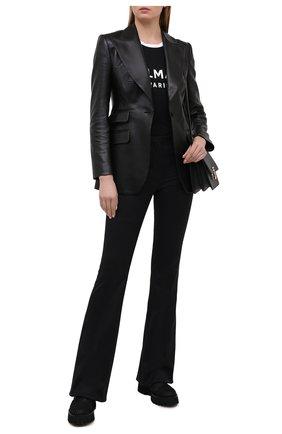 Женские комбинированные ботинки CASADEI черного цвета, арт. 1R253S0401C12479000 | Фото 2
