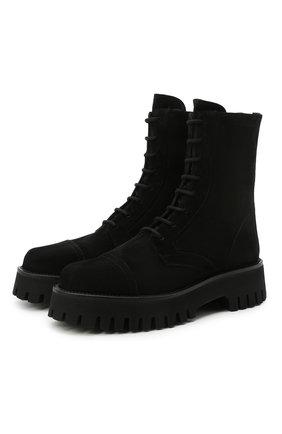 Женские замшевые ботинки CASADEI черного цвета, арт. 1R256S0401RENXL9000 | Фото 1