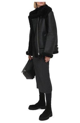Женские замшевые ботинки CASADEI черного цвета, арт. 1R256S0401RENXL9000 | Фото 2