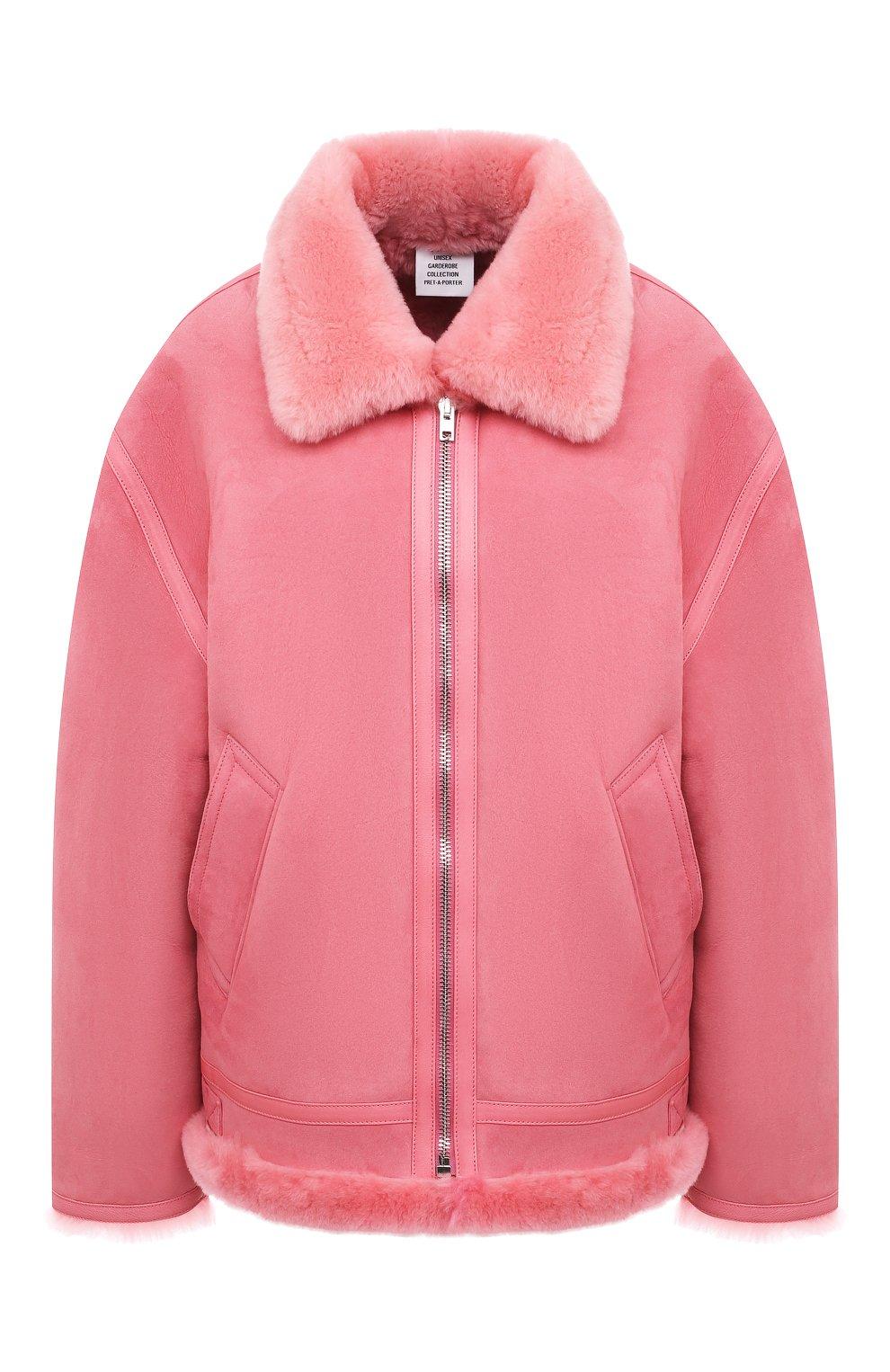 Женская дубленка VETEMENTS розового цвета, арт. UE51JA920P 2400/W | Фото 1