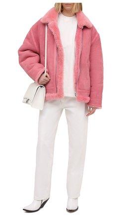 Женская дубленка VETEMENTS розового цвета, арт. UE51JA920P 2400/W | Фото 2