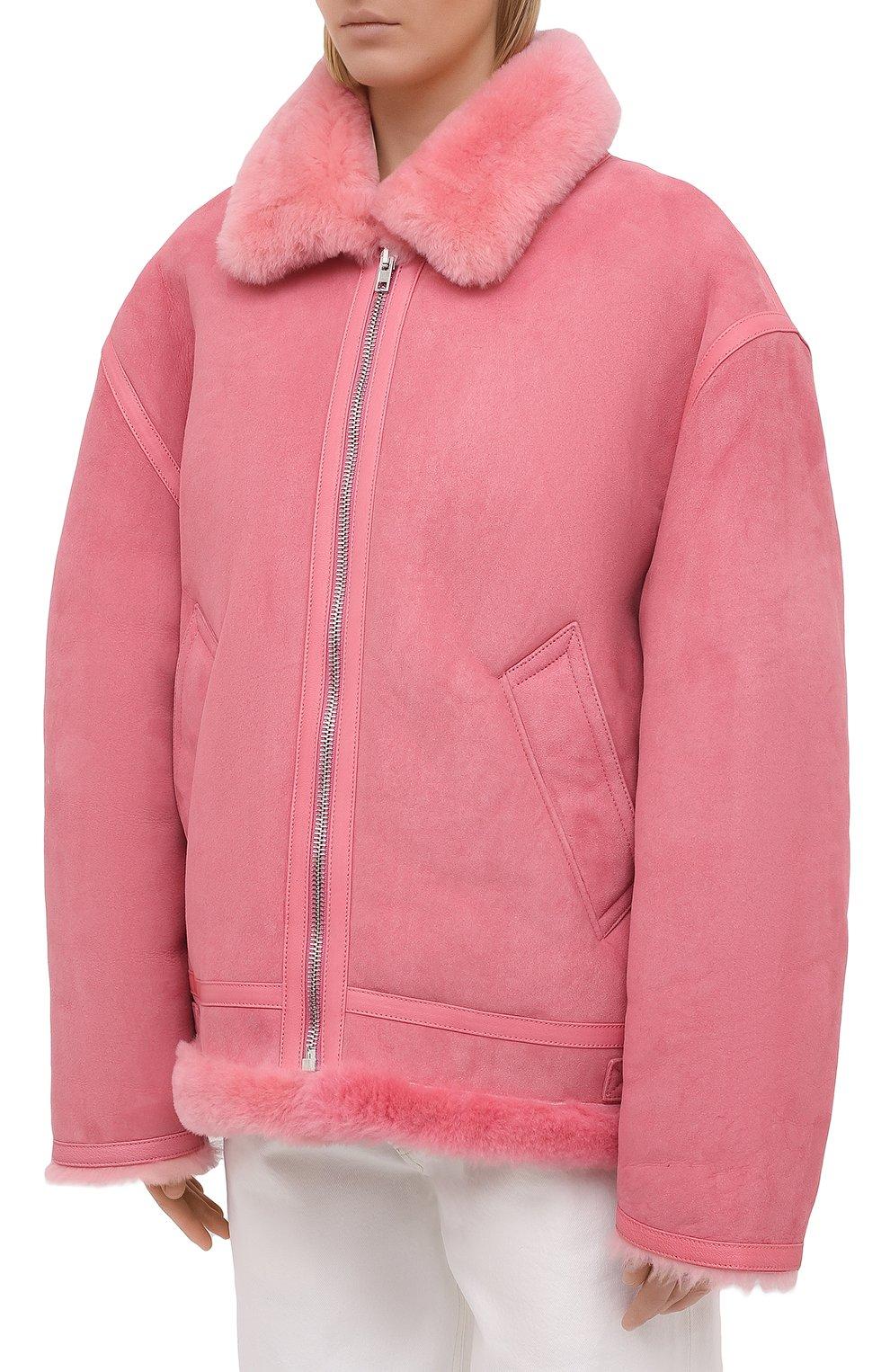 Женская дубленка VETEMENTS розового цвета, арт. UE51JA920P 2400/W | Фото 3