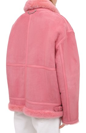 Женская дубленка VETEMENTS розового цвета, арт. UE51JA920P 2400/W | Фото 4