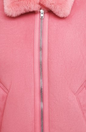 Женская дубленка VETEMENTS розового цвета, арт. UE51JA920P 2400/W | Фото 5