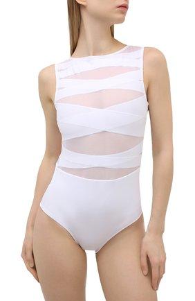 Женский слитный купальник OYE белого цвета, арт. NYX | Фото 2