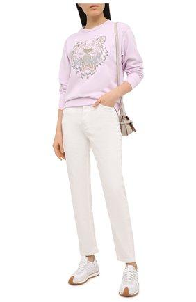 Женский хлопковый свитшот KENZO светло-розового цвета, арт. FB52SW8244XA | Фото 2