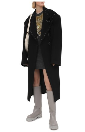 Женское шерстяное платье KENZO серого цвета, арт. FB52R05403AE | Фото 2