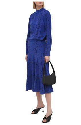 Женское шелковое платье KENZO синего цвета, арт. FB52R0035521 | Фото 2
