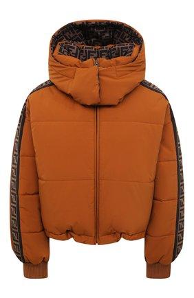 Женский пуховая куртка FENDI коричневого цвета, арт. FAN001 AEQD | Фото 1