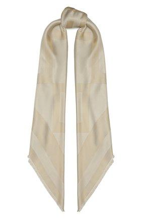 Женская шаль из шелка и вискозы GIVENCHY бежевого цвета, арт. GW1414/J4234   Фото 1