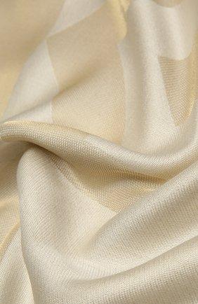 Женская шаль из шелка и вискозы GIVENCHY бежевого цвета, арт. GW1414/J4234   Фото 2