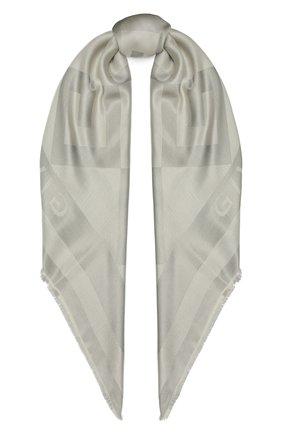 Женская шаль из шелка и вискозы GIVENCHY серебряного цвета, арт. GW1414/J4234   Фото 1