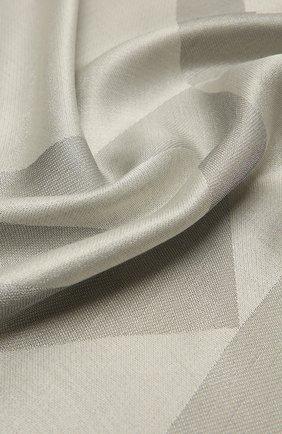 Женская шаль из шелка и вискозы GIVENCHY серебряного цвета, арт. GW1414/J4234   Фото 2