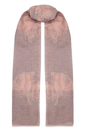 Женская кашемировая шаль VINTAGE SHADES розового цвета, арт. 14035   Фото 1