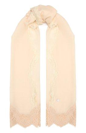 Женская шерстяная шаль VINTAGE SHADES светло-розового цвета, арт. 14038B   Фото 1