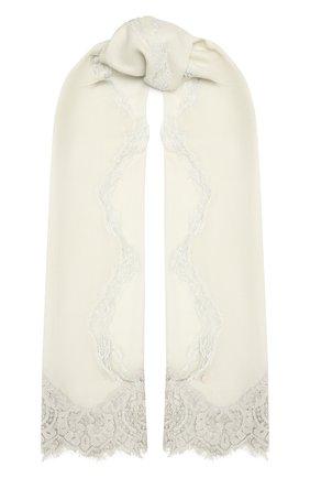 Женская шерстяная шаль VINTAGE SHADES светло-серого цвета, арт. 14038B   Фото 1