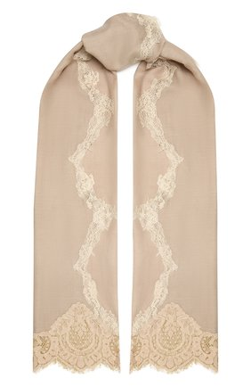 Женская шерстяная шаль VINTAGE SHADES светло-бежевого цвета, арт. 14038B   Фото 1