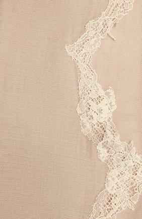 Женская шерстяная шаль VINTAGE SHADES светло-бежевого цвета, арт. 14038B   Фото 2