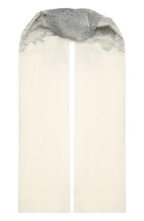 Женская кашемировая шаль VINTAGE SHADES белого цвета, арт. 14054   Фото 1