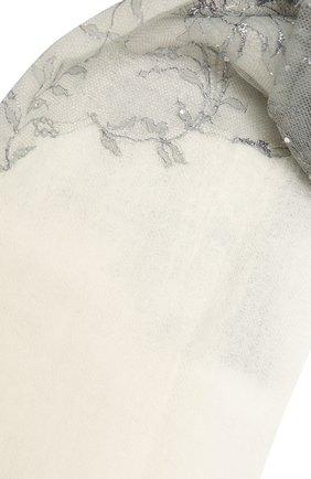 Женская кашемировая шаль VINTAGE SHADES белого цвета, арт. 14054   Фото 2