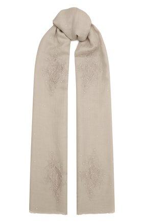 Женская шаль из шелка и шерсти VINTAGE SHADES белого цвета, арт. 32293   Фото 1