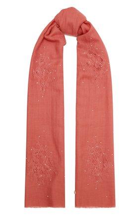 Женская шаль из шелка и шерсти VINTAGE SHADES кораллового цвета, арт. 32293   Фото 1