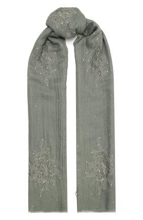 Женская шаль из шелка и шерсти VINTAGE SHADES светло-зеленого цвета, арт. 32293   Фото 1