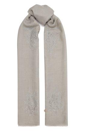 Женская шаль из шелка и шерсти VINTAGE SHADES серого цвета, арт. 32293   Фото 1