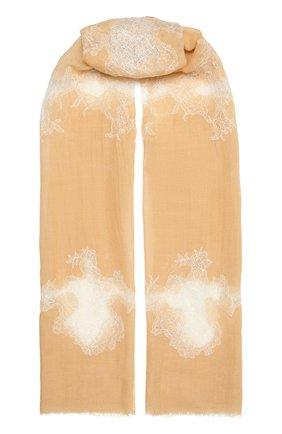 Женская шерстяная шаль VINTAGE SHADES бежевого цвета, арт. 4286   Фото 1