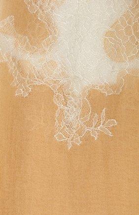 Женская шерстяная шаль VINTAGE SHADES бежевого цвета, арт. 4286   Фото 2