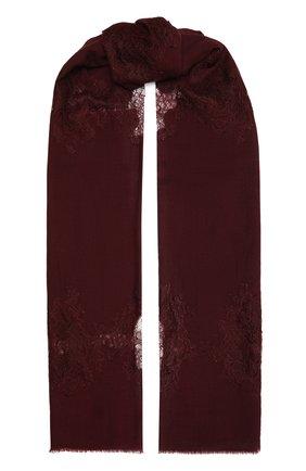 Женская шерстяная шаль VINTAGE SHADES бордового цвета, арт. 4286   Фото 1