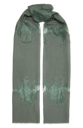 Женская шерстяная шаль VINTAGE SHADES зеленого цвета, арт. 4286   Фото 1