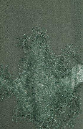 Женская шерстяная шаль VINTAGE SHADES зеленого цвета, арт. 4286   Фото 2