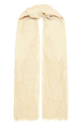 Женская шаль из шелка и шерсти VINTAGE SHADES белого цвета, арт. 6803D   Фото 1