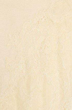 Женская шаль из шелка и шерсти VINTAGE SHADES белого цвета, арт. 6803D   Фото 2