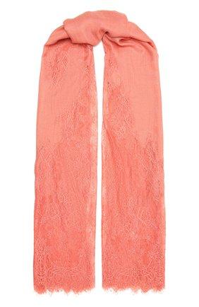 Женская шаль из шелка и шерсти VINTAGE SHADES кораллового цвета, арт. 6803D   Фото 1
