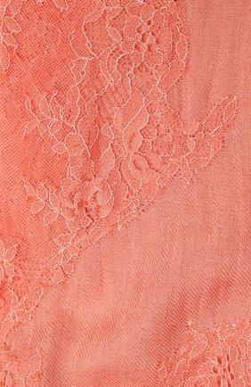 Женская шаль из шелка и шерсти VINTAGE SHADES кораллового цвета, арт. 6803D   Фото 2