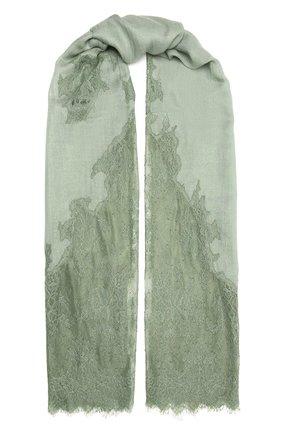 Женская шаль из шелка и шерсти VINTAGE SHADES зеленого цвета, арт. 6803D   Фото 1