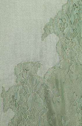 Женская шаль из шелка и шерсти VINTAGE SHADES зеленого цвета, арт. 6803D   Фото 2