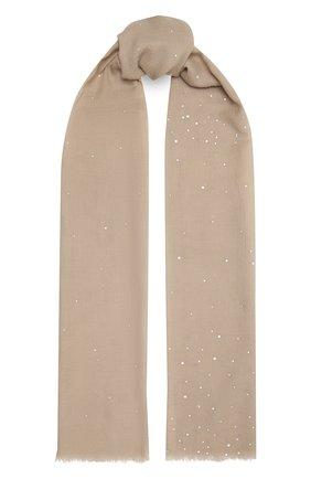 Женская шерстяная шаль VINTAGE SHADES бежевого цвета, арт. 8841D   Фото 1