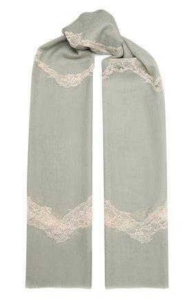 Женская шерстяная шаль VINTAGE SHADES зеленого цвета, арт. 8999   Фото 1