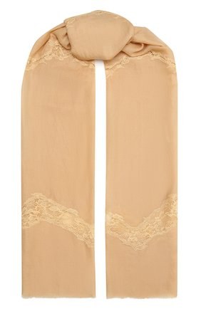 Женская шерстяная шаль VINTAGE SHADES бежевого цвета, арт. 8999   Фото 1
