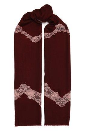 Женская шерстяная шаль VINTAGE SHADES бордового цвета, арт. 8999   Фото 1